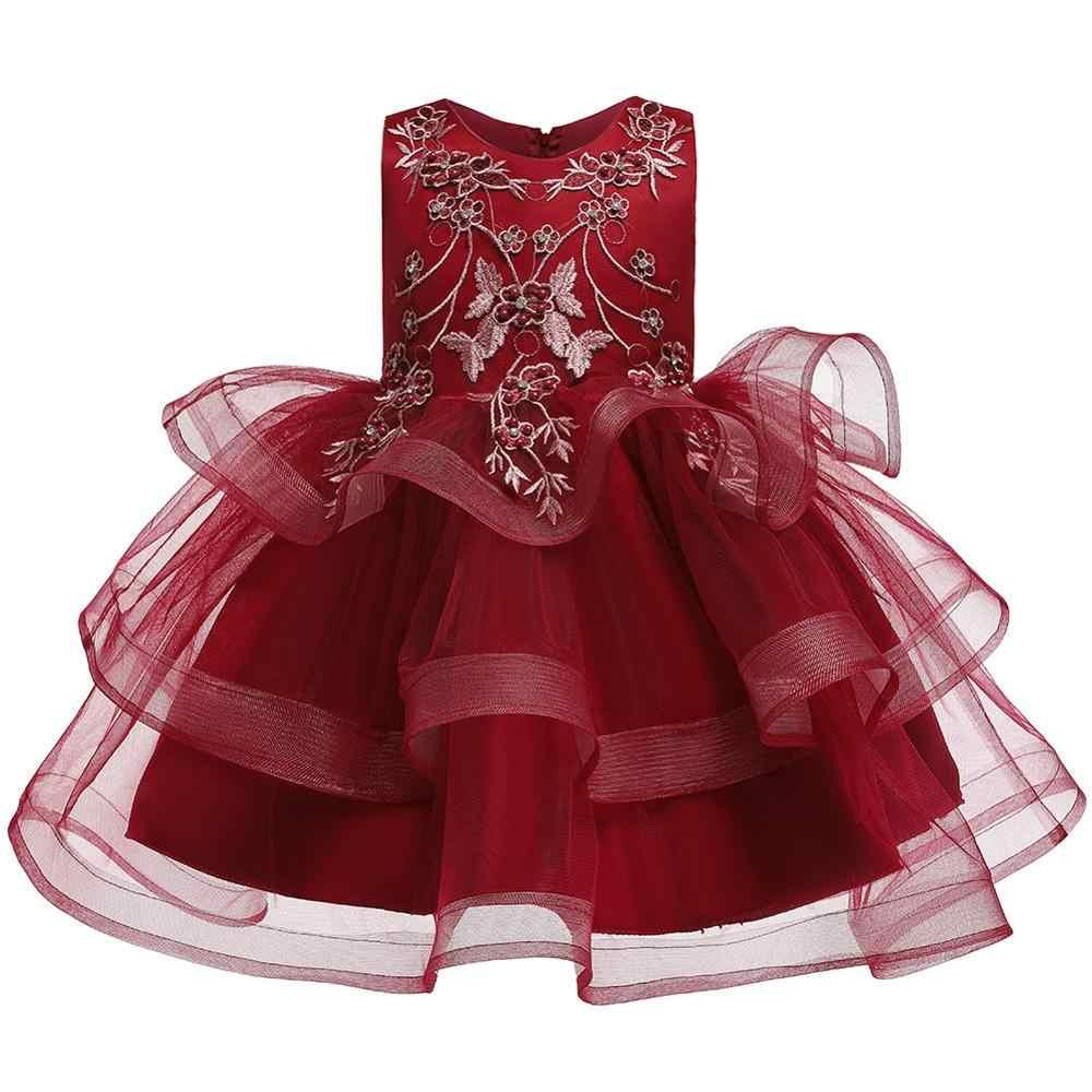 Crianças Vestidos Para Meninas Vestido de Princesa Verão Elegante Flor Da Criança Meninas Crianças Vestido De Casamento Vestidos de Festa vestido infantil