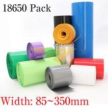 85mm ~ 350mm 18650 batterie au Lithium thermorétractable Tube Li-ion enveloppe couverture peau PVC rétractable Tube Film manchons gaine d'isolation