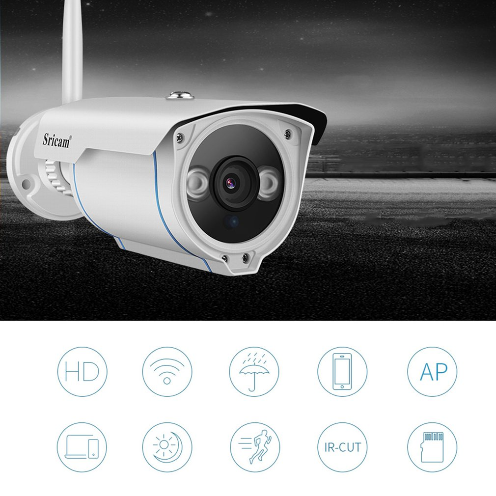 Sricam SP007 1080P HD IP Camera Motion Detection IR Night Vision Bullet Camera H.264 CCTV Surveillance Camera Outdoor Waterproof