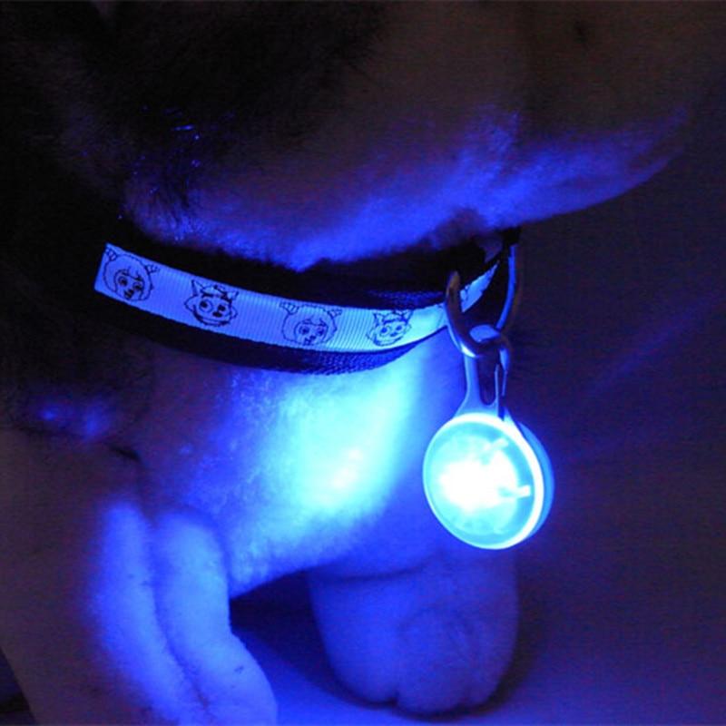 1pc LED Pet Dog Flashing Collar Waterproof Safety Walking Night Light Luminous Decoration Pendant Necklace Pet Supplies Hot Sale