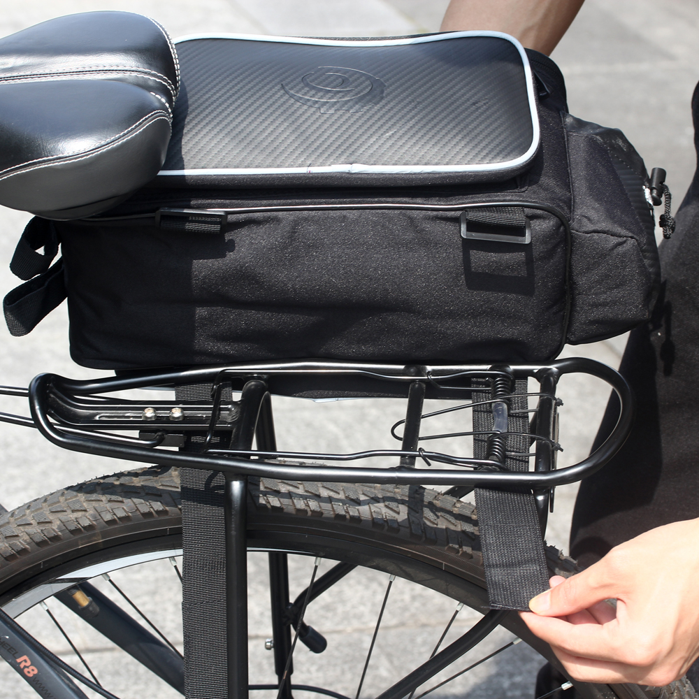 Bike Seat Saddle Rear Rack Pack Bag Cycling Bicycle Luggage Carrier Pannier