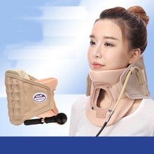 Neck Traction Inflatable Massager Brace Ease Care Cervical Vertebrae Air Pain Release Therapy Device