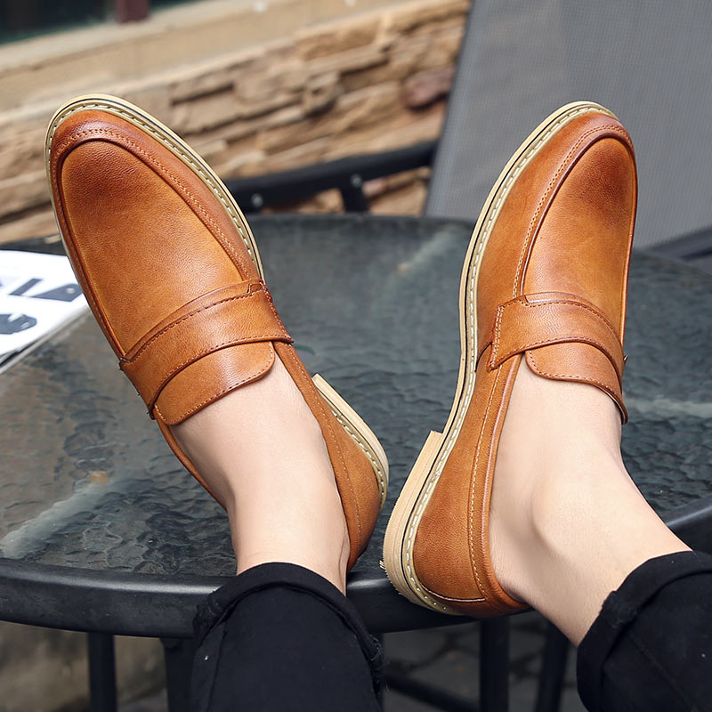 Men Oxford Shoes For Men Leather Handmade Luxury Men Dress Shoes Fashion Pointed Toe Men Shoes Leather