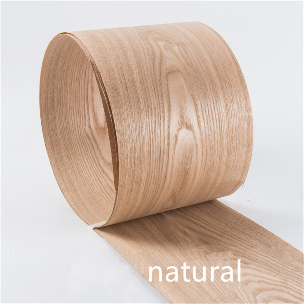 Natural Genuine Wood Veneer Sliced Chinese Ash Furniture Veneer About 15cm X 2.5m 0.4mm Thick C/C