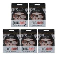 5Pcs Reusable Anti-Fog Wipes Glasses Pre-moistened Antifog Lens Cloth Defogger Eyeglass