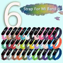 TPU Smart Watch Strap For Xiaomi Mi Band 6 Solid Color Replacement Wristband For Mi Band 6 Strap Watchband Bracelet Accessories