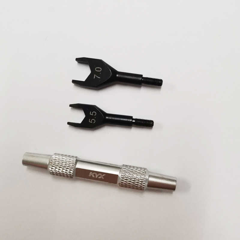 1PCอะไหล่ซ่อมคู่ 5.5 7.0 ประแจปลายเปิดOut Hex Mini Spannerสำหรับรถยนต์รุ่นRCรถอุปกรณ์เสริม