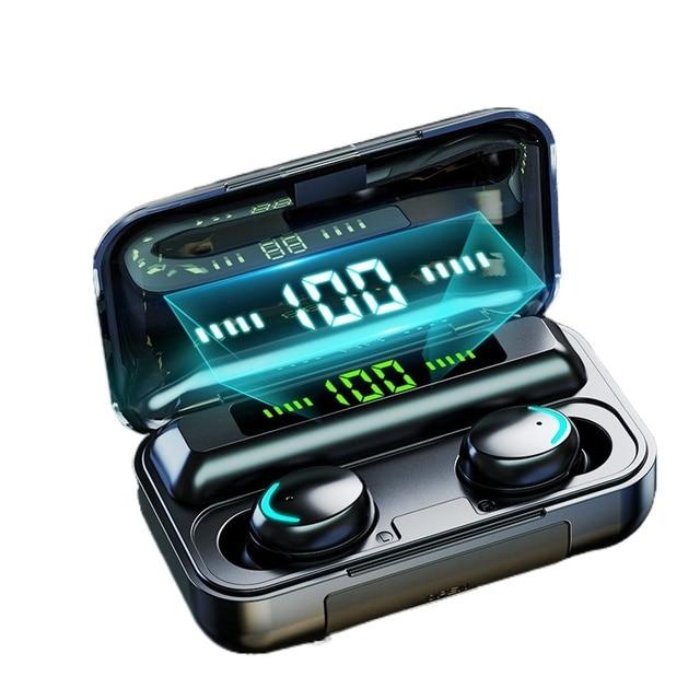 DODOCASE F9-V5.0 Bluetooth 5.0 Earphones TWS Fingerprint Touch Headset HiFI Stereo In-ear Earbuds Wireless Headphones for sport 1
