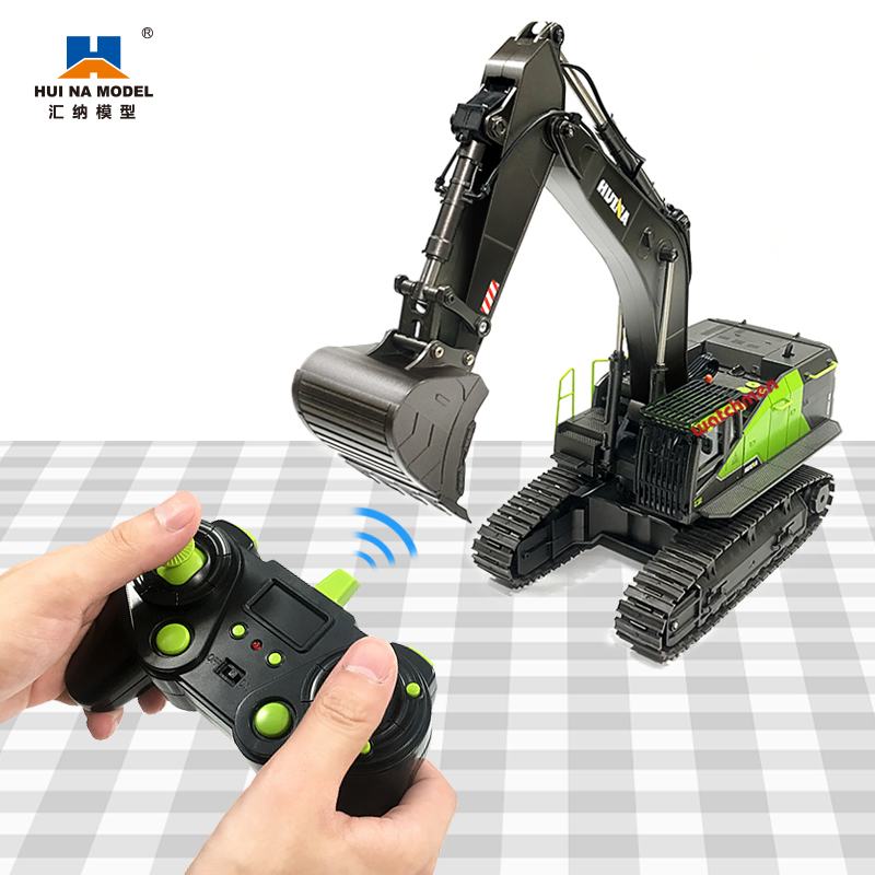 1:14 RC Excavator 22CH Green Remote Control Truck Toys for Boys Lead Screw Drive Huina 593 1593 NEW ARRIVAL|RC Trucks| - AliExpress