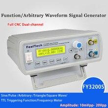 Generador de funciones de doble canal DDS mini Generador de señal Digital, onda sinusoidal, generador de frecuencia de forma de onda arbitraria, 250MSA/s20MHz