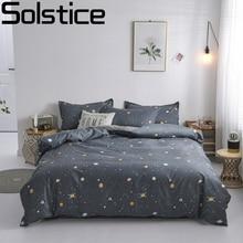 Solsticeファッション布団カバーセットベッド綿リネン枕4本寝具ベッドセット寝具ツイン全女王スーパーキング5サイズ