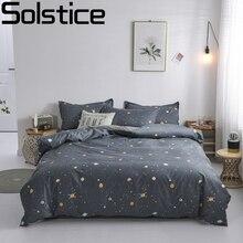 Solstice модное Одеяло Обложка Установить кровать хлопок наволочка 4 шт постельные принадлежности набор постельного белья Twin полный двуспальная очень большая двуспальная Размер 5