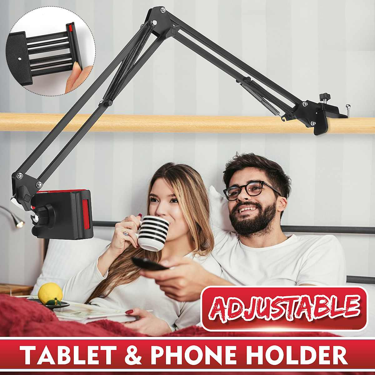 360 Rotating Flexible Long Arms Mobile Phone Holder For IPhone Xiaomi Desktop Bed Lazy Bracket Phone Stand Metal Clamp Support