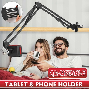 360 Rotating Flexible Long Arms Mobile Phone Holder For Xiaomi iPhone Desktop Bed Lazy Bracket Phone Stand Metal Clamp Support