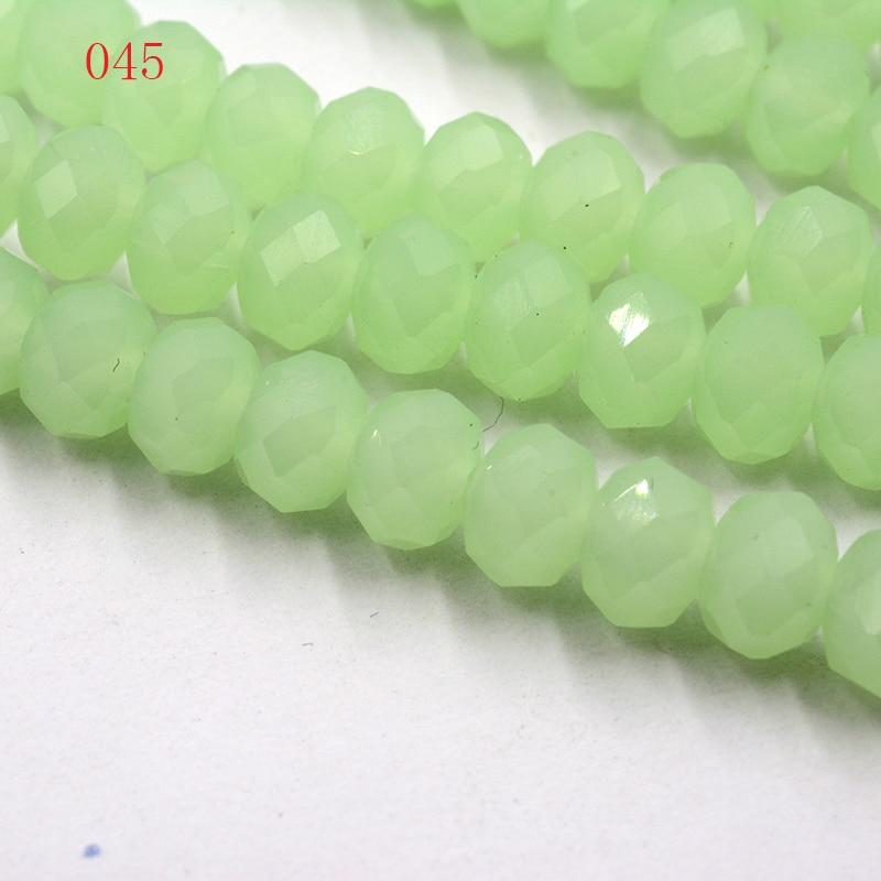 4 мм 140 шт./лот бусины из кристаллов, граненые круглые стеклянные бусины - Цвет: 045