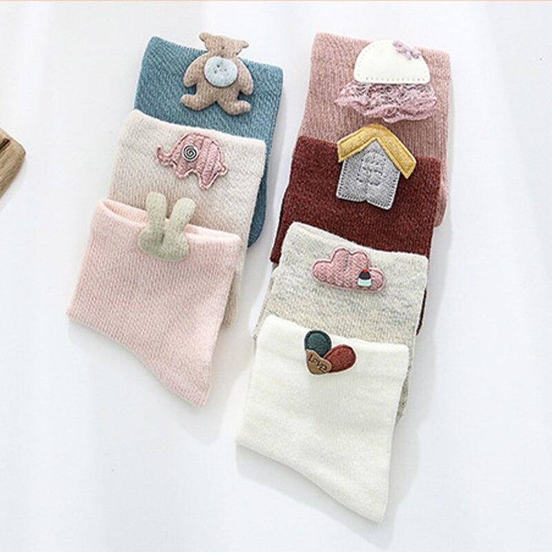Купить 3 пара/лот детские носки для малышей удобные мягкие хлопковые