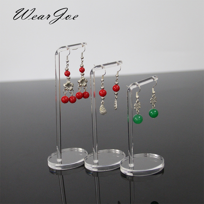 Portable Clear Acrylic Earrings Jewellery Store Display Stand Hanging Eardrop Ear Rings Jewelry Presenting Rack Holder Organizer