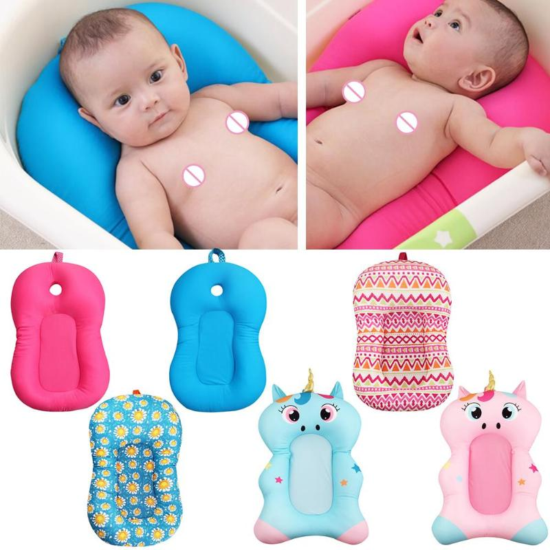 Newborn Bath Floating Pad Mat Baby Bath Tub Pad Baby Shower Portable Air Cushion Bed N NewBorn Safety Security Bath Seat Support