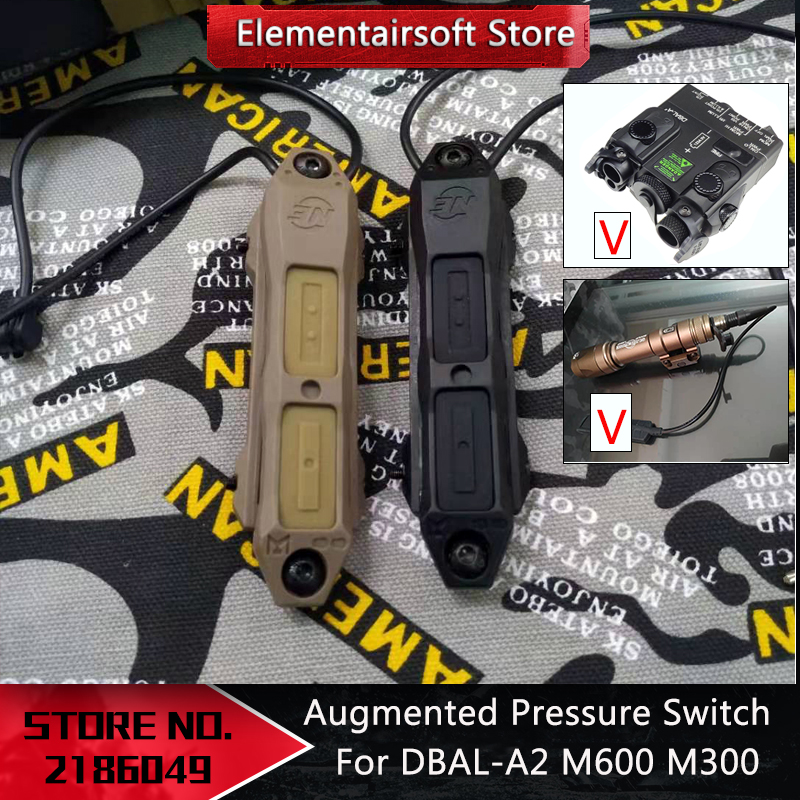 Airsoft Tactical Augmented Pressure Switch Double Switch For DBAL A2 3.5mm Airsoft  NE08080