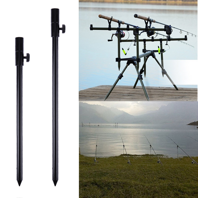 Durable Fishing Bank Stick Delicate Texture Carp Fishing Bank Stick Adjustable Bankstick Bite Alarm Extension Rod Black