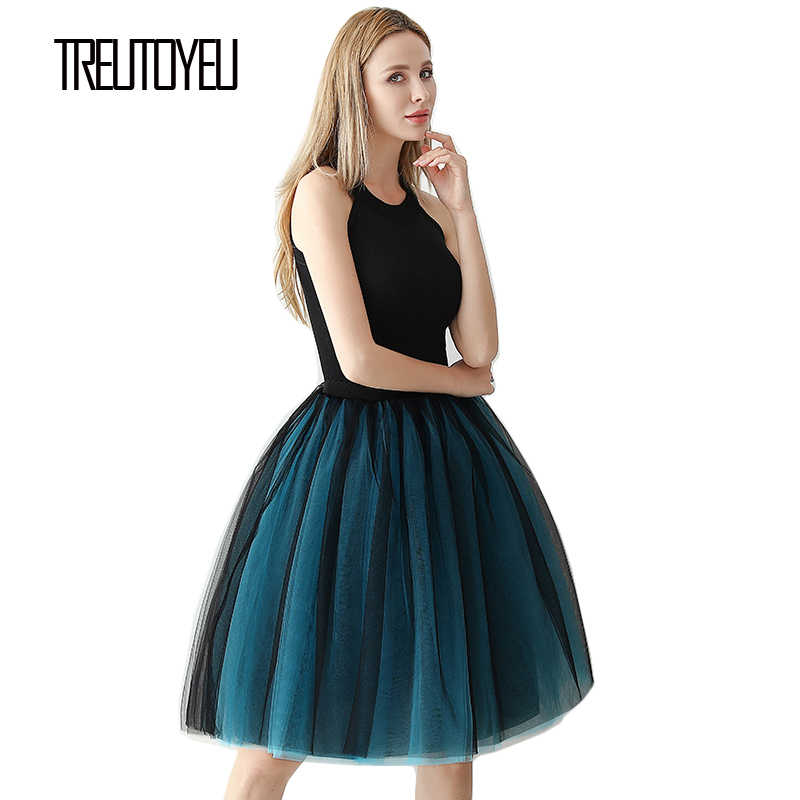 6 層 65 センチメートルロング女性スカートプリンセスチュールスカートファッションボールガウンロリータスカート夏 saias femininas 段 faldas ペチコート