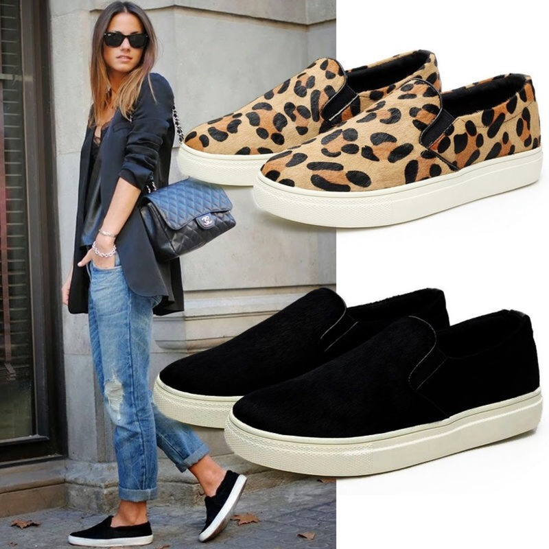 Loafers women sneakers New Flat shoes women Platform shoes woman Flats Casual Ladies shoes Tenis feminino Leopard womens shoes