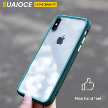 SUAIOCE Fashion Shockproof Bumper Transparent Silicone Phone Case For iPhone 11 Pro X XS XR Max Luxury protection Back Cover