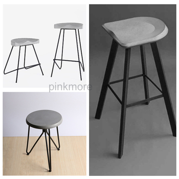 Cement stool mold DIY concrete chair stool silicone mold handmade household supplies mold stool mold