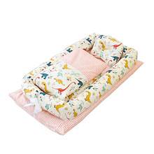 Baby Crib Newborn Baby Nest Bed Portable Crib Travel Bed Baby Bumper with Pillow Cushion Comfortable Cradle YHM055
