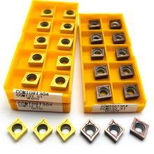 Hohe-qualität hartmetall drehen werkzeug CCMT09T304 VP15TF UE6020 US735 CNC maschine werkzeug fräsen werkzeug CCMT060204 drehmaschine toolCCMT