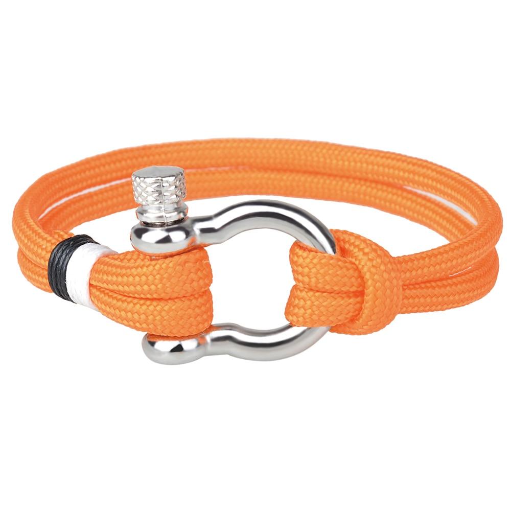 Kirykle-Bracelet en fer à cheval, en alliage, pour femmes, ancre, chaîne, cordon en Polyester, bijoux pour hommes 4