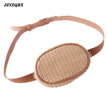 цена на Waist Pack Bohemian Straw Bag Rattan Waist Bag Banana Bag Summer Beach Bag Waterproof PU Leather Belt Fanny Pack