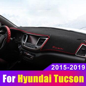 Pour Hyundai Tucson 2015 2016 2017 2018 2019 voiture tableau de bord éviter la lumière Pad Instrument plate-forme bureau couverture tapis accessoires