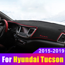 For Hyundai Tucson 2015 2016 2017 2018 2019 Car Dashboard Avoid Light Pad Instrument Platform Desk Cover Mat Carpets Accessories стоимость