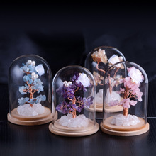 Home Decoration Natural Crystal Flower Tree Purple Powder Yellow  Handmade Products crystal tree