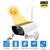 1080P Wireless PTZ WiFi IP Camera Solar Camera With 18650 Battery 4X Zoom Auto Tracking Outdoor Waterproof Night Vision IR TF Ca