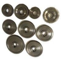 9 teile/satz CJ0618 Haushalt Kleine Drehmaschine  Micro Drehmaschine Getriebe  Metall Austausch Getriebe-in Drehbank aus Werkzeug bei