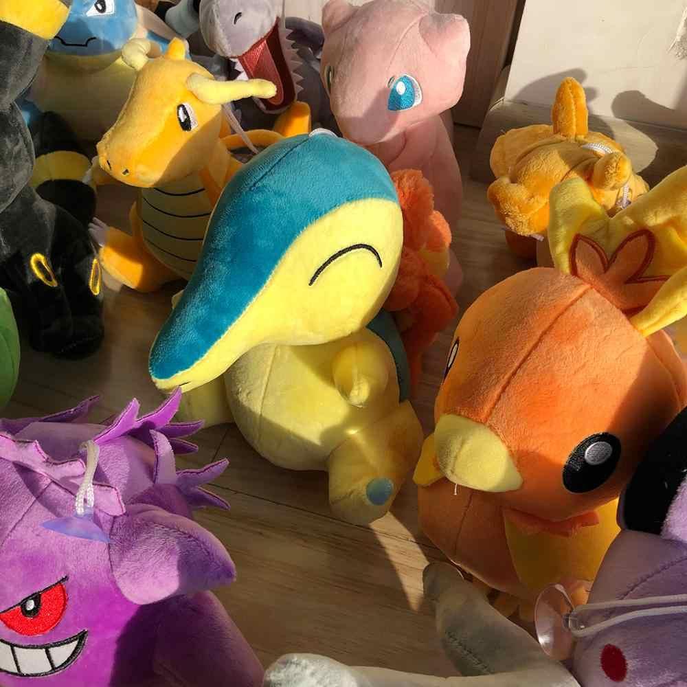 Pikachu Charmander Bulbasaur Squirtle Plush ของเล่น Eevee Snorlax Jigglypuff Lapras เครื่องกรงเล็บตุ๊กตาของขวัญเด็ก