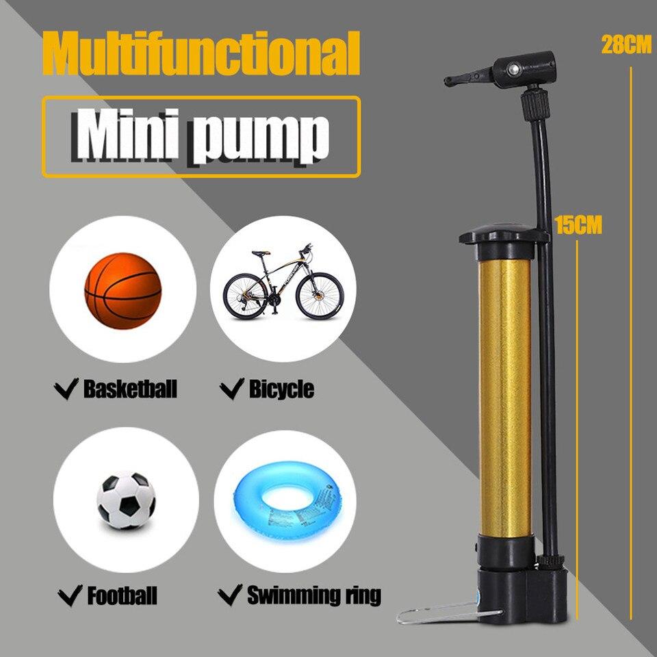 Basketball Hand  Ball Tire Inflator Mini Bicycle Pump High Pressure MTB Bike