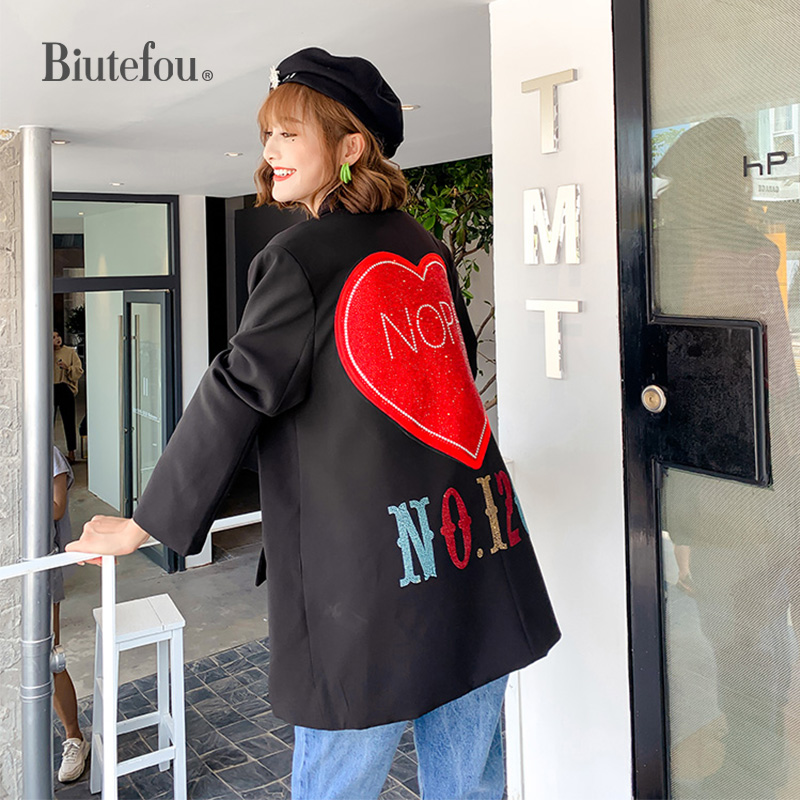 2020 Spring Blazers Women Beading Patch Designs Chic Jackets