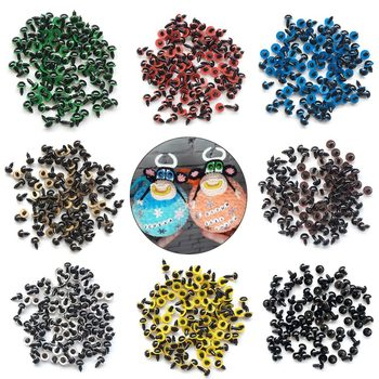 100pcs 8/10/12/mm Mix Color Plastic Safety Eyes Crafts Animal Bear DIY Dolls Puppet Accessories Stuffed Toys with Washer