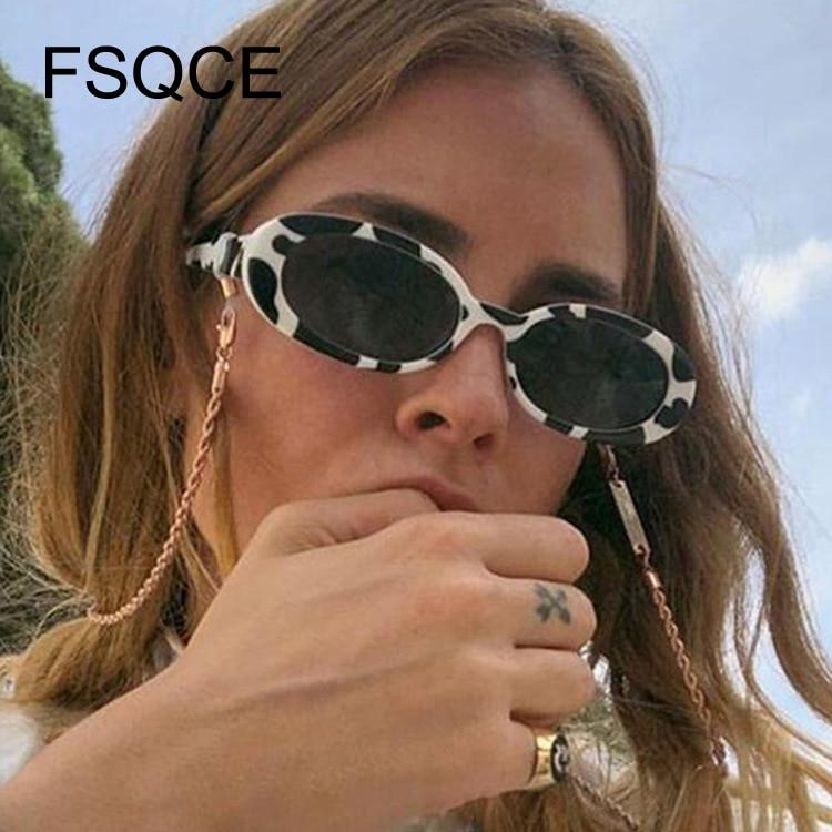 Pink Retro Sunglasses Oval Sunglasses Women Retro Brand Designer Vintage Ladies Cat Eye Pink Sun Glasses UV400  Nicki Minaj