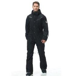 Синий волшебный водонепроницаемый комбинезон для катания на сноуборде, цельный лыжный комбинезон для мужчин, сноуборд-30 градусов, зимний л...