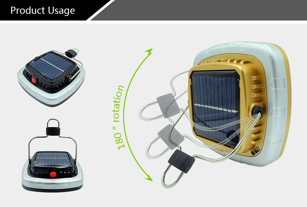Details about  /60000LM Solar Lamp Portable COB LED Camping Lantern Tent Light Built-in Battery