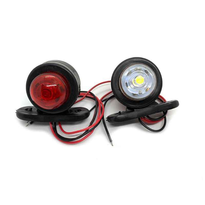 2X 12V LED Truck Side Marker Light Indicator Side Marked Lamp RV Clearance Lamp