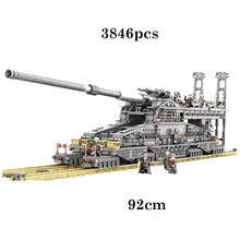 цена на Military Toys German 80cm K[E] Railway Gun Dora Compatible Legoingly Military Building Blocks for Children Brick Christmas Gift