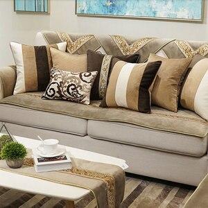 Винтажная кофейно-коричневая Подушка/Чехол almofadas, современный дизайн, чехол для спинки сиденья 45 50 60, Ретро декоративный чехол для подушки