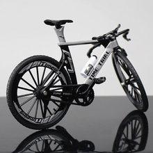 18cm 1:10 escala de metal liga diecast bicicleta montanha tt bicicleta modelo de brinquedo corrida ciclo cross simulação bicicleta crianças presente