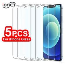 Protecteur d'écran pour iPhone, 5 pièces, en verre trempé pour modèles 6, 7, 8, 12 Plus, X, XS, XR, 11, 12 Pro Max, SE 2020