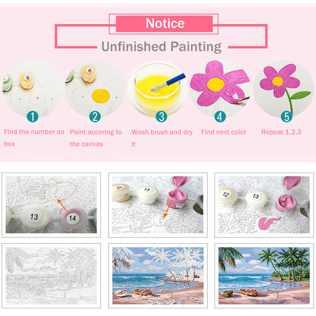 HUACAN Oil Painting By Numbers Girl Kits Drawing Canvas HandPainted DIY Pictures Portrait Home Decoration